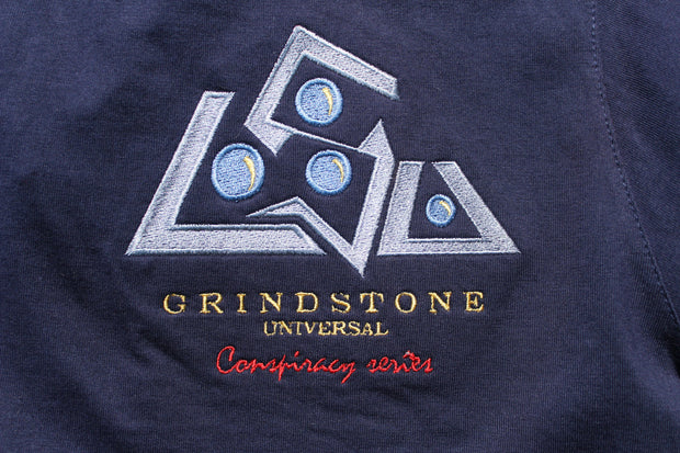 Grindstone Universal conspiracy series reflective back t shirt tees and tank tops navy TheDrop