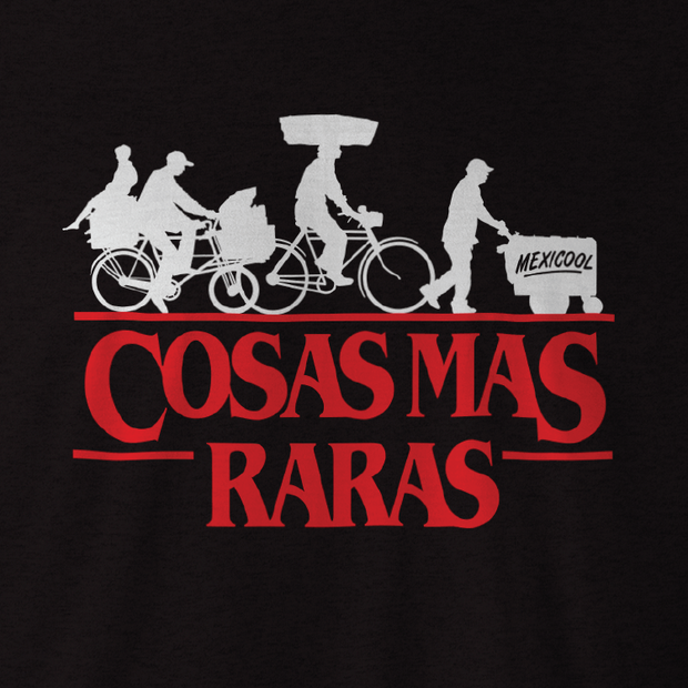 Mexicool™ cosas mas raras black mens tee mexico collective TheDrop