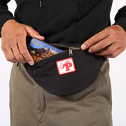 pizzaskateboards watch your step fanny pack black pizza skateboards black TheDrop