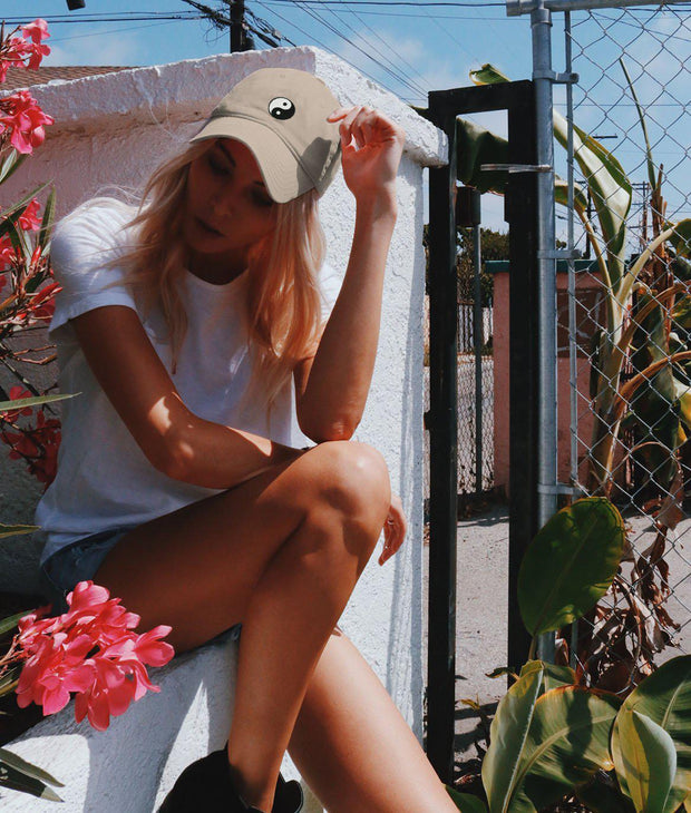 Riot Society Clothing yin yang embroidered womens dad hat riot society TheDrop