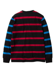 Staple Pigeon ski stripe l s knit 1911c5707 blk staple black TheDrop