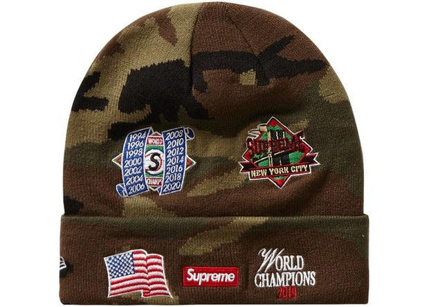 Supreme supreme new era championship beanie woodland camo streetwear official TheDrop