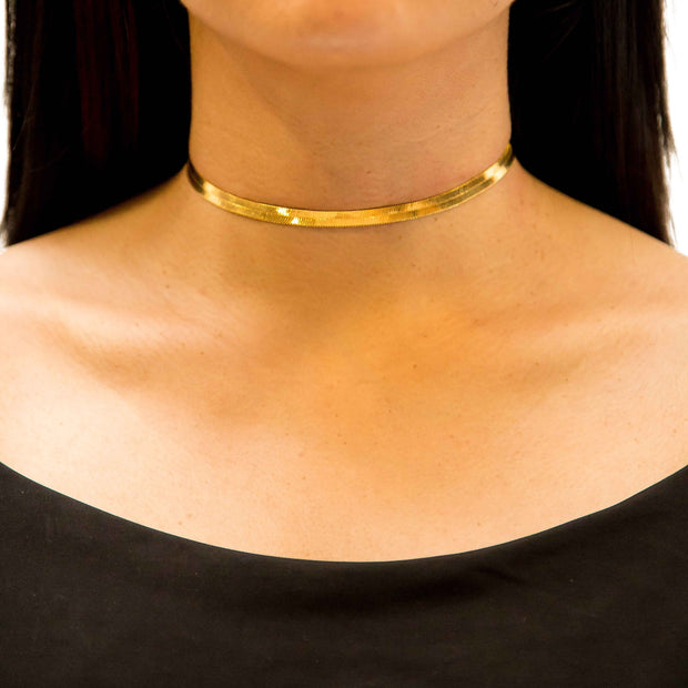 VESSO mina choker gold jewelry gold TheDrop