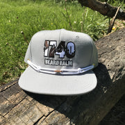 1740 Beard Balm furry logo snap back hat apparel blue TheDrop