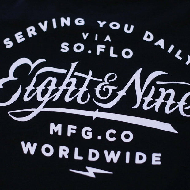 8 9 MFG Co. served premium t shirt black tees TheDrop