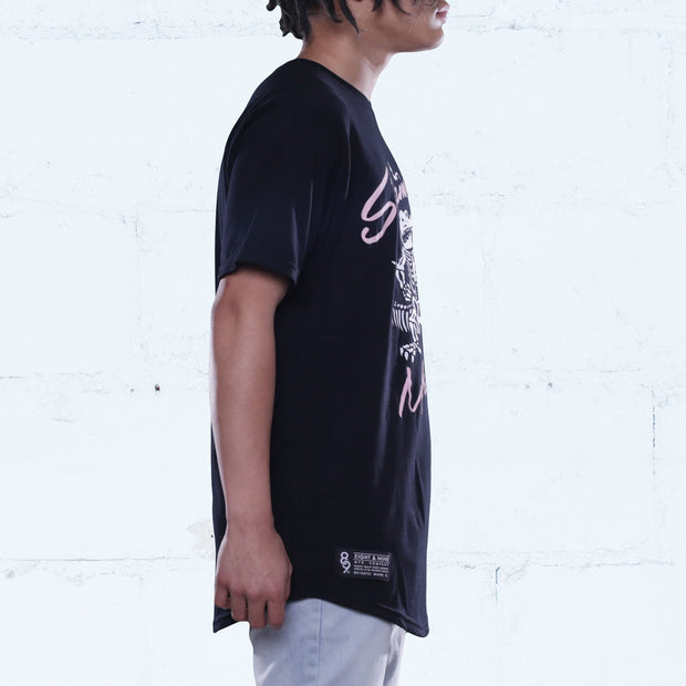 8 9 MFG Co. sinsemilla curved hem tee black tees TheDrop