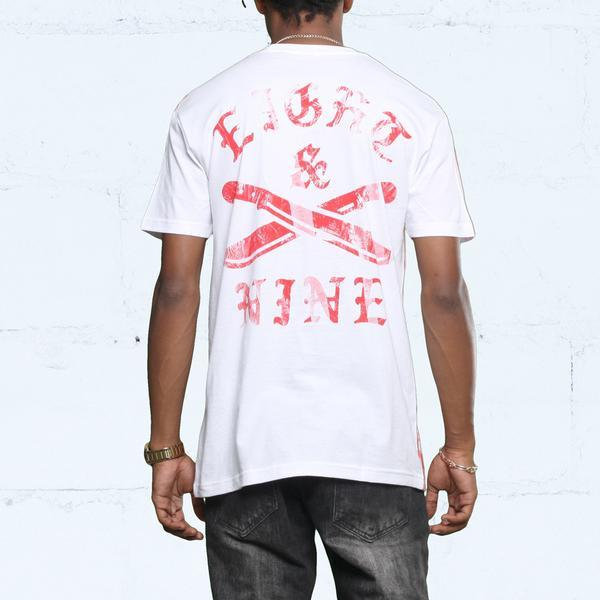 8 9 MFG Co. the river curved hem t shirt gym red tees TheDrop