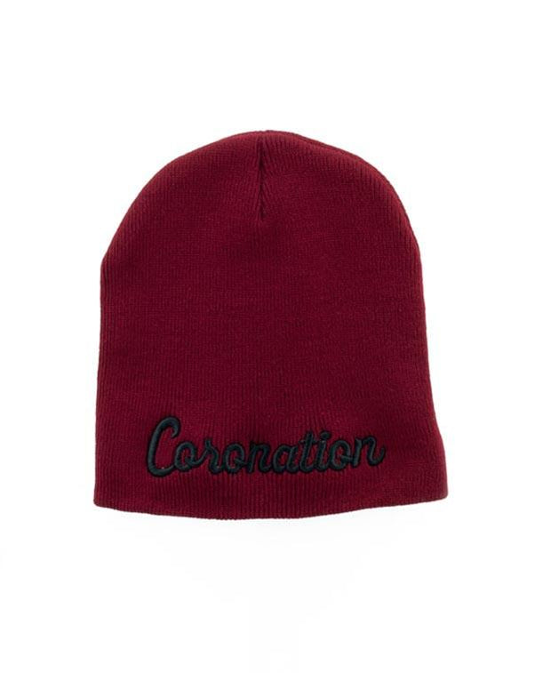 Coronation Apparel coronation script hats and beanies TheDrop