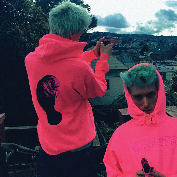CREATE manatee hoodie hot pink sweaters pink TheDrop