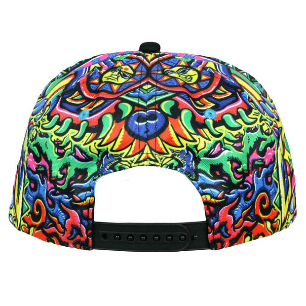 Grassroots chris dyer rainbow serpent red snapback hat snapbacks red TheDrop