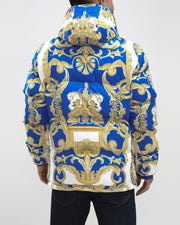 Hudson Outerwear baroque down jacket blue jackets and outerwear TheDrop