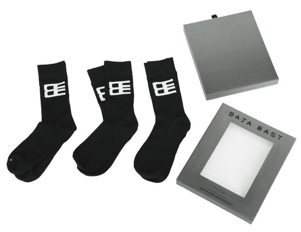 Related Garments x Baja East baja east x related garments unisex socks 3 pack socks black TheDrop