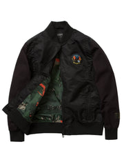 Staple Pigeon field tech baseball jacket 1909o5539 blk staple black TheDrop