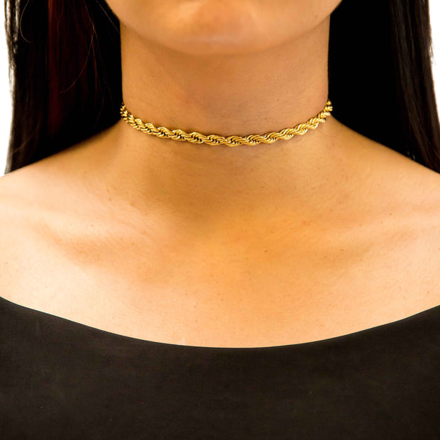 VESSO copy of bondy choker white gold jewelry gold TheDrop