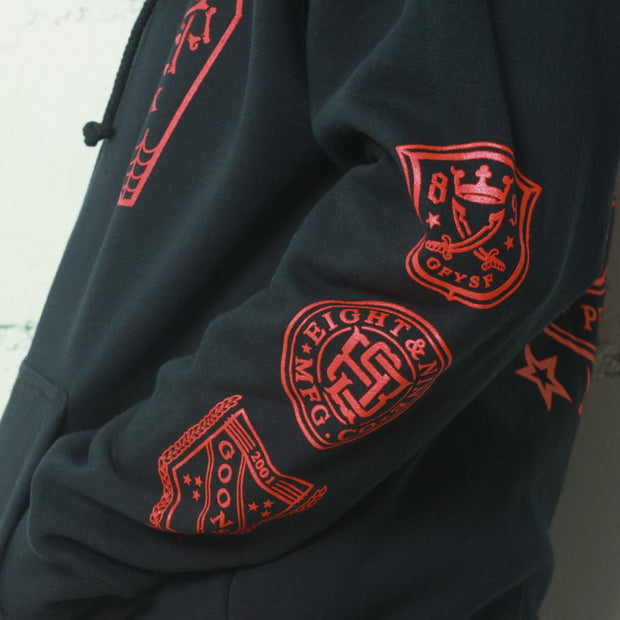 8 9 MFG Co. infinite ruffians rugby zip up hoodie navy jackets and outerwear TheDrop