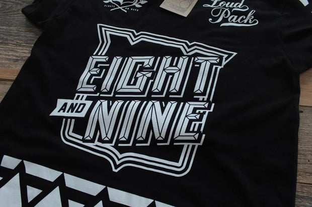 8 9 MFG Co. smoketree hockey jersey tee black tees (men only) TheDrop