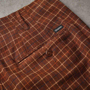 BRIXTON mens regent trouser brown plaid belmont army brown TheDrop