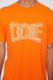 DOPE blueprint tee orange tees orange TheDrop