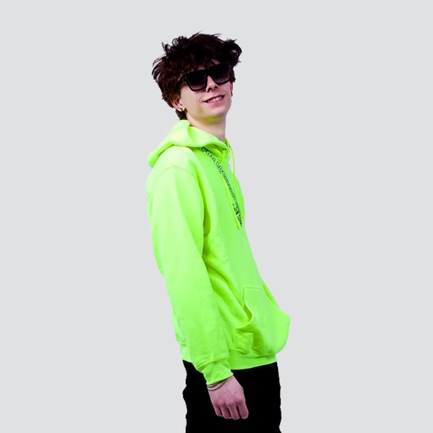 HIP AND BONE neon trust one pullover hoodie safety green hoodies and crewnecks TheDrop
