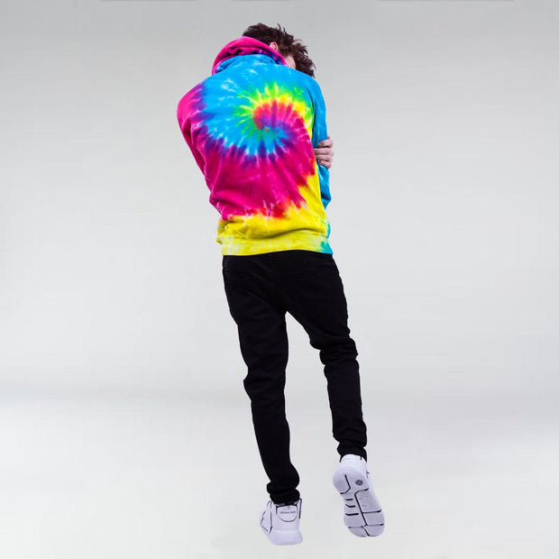 HIP AND BONE rocker hand rainbow spiral hoodie hoodies and crewnecks TheDrop