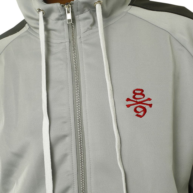 8 9 MFG Co. own the team double stripe track jacket grey jackets and outerwear TheDrop