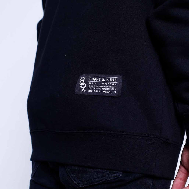 8 9 MFG Co. too many rappers pull over hoodie jackets and outerwear black TheDrop