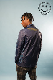 Brooklyn Cloth akinyemi coaches jacket jackets and outerwear navy TheDrop
