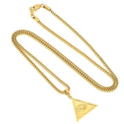 VESSO eye of providence necklace jewelry gold TheDrop
