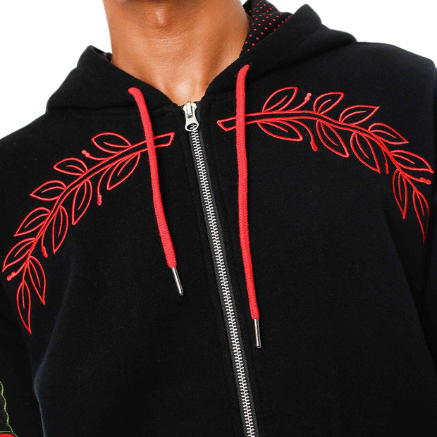 8 9 MFG Co. eulogy hooded embroidered sweatshirt black jackets and outerwear TheDrop