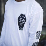 8 9 MFG Co. infinite ruffians rugby tee white tees TheDrop