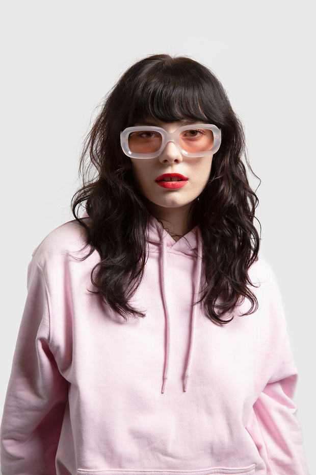 GLVSS a13 thecrush clearwhite pink sunglasses TheDrop