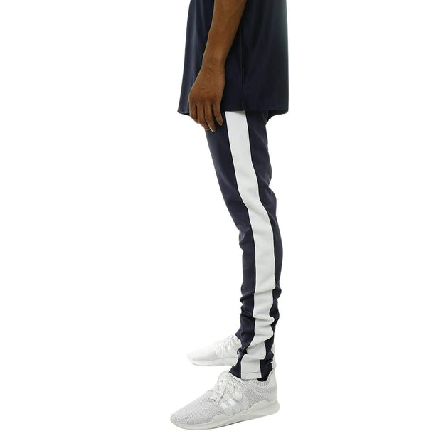 8 9 MFG Co. own the team double stripe track pant navy pants and joggers TheDrop