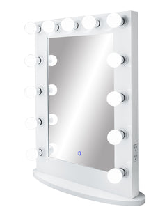 Upright Lighted Hollywood Mirror with Dimmer :: IMPACT Series