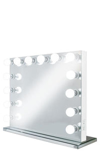 XL Wide Hollywood Frameless Mirror With Dimmer :: FOREVER Series