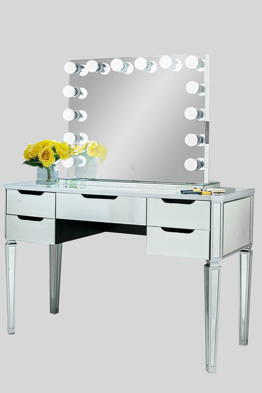 Xl Wide Hollywood Frameless Mirror With Bluetooth Dimmer
