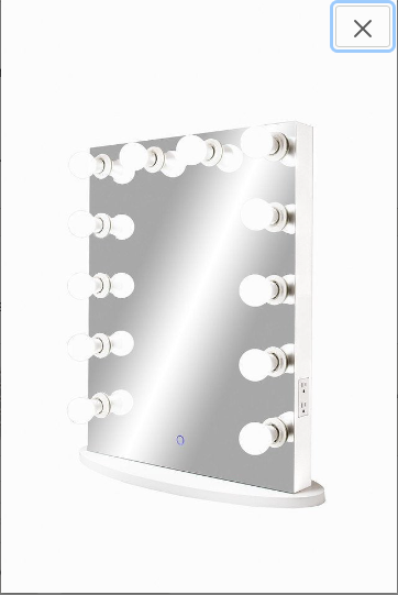 Upright Hollywood Frameless Mirror with Touch Dimmer :: FOREVER Series