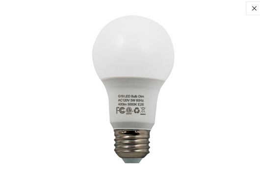 FREE SHIPPING : 6PK  DIMMABLE LED REPLACEMENT BULBS:  DAYLIGHT