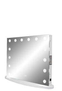 Wide LED Lighted Mirror with Speakers :: IMPULSE Series