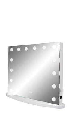 Wide LED Lighted Mirror with Touch Dimmer :: IMPULSE Series