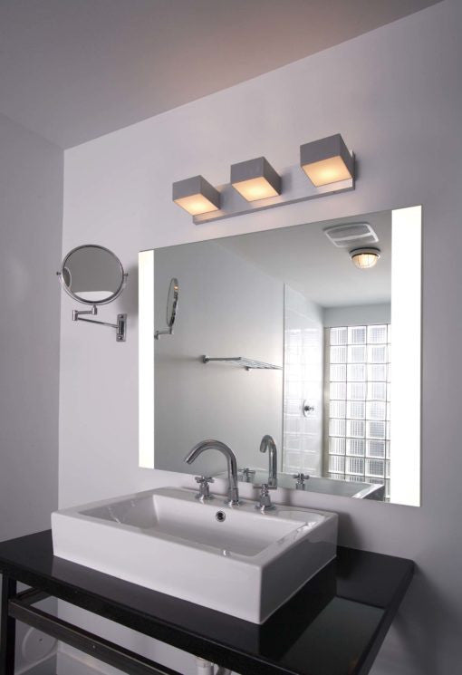 Large Bathroom Vanity Mirror With Led Lighted Edges Impeccable Seri Impact Vanity