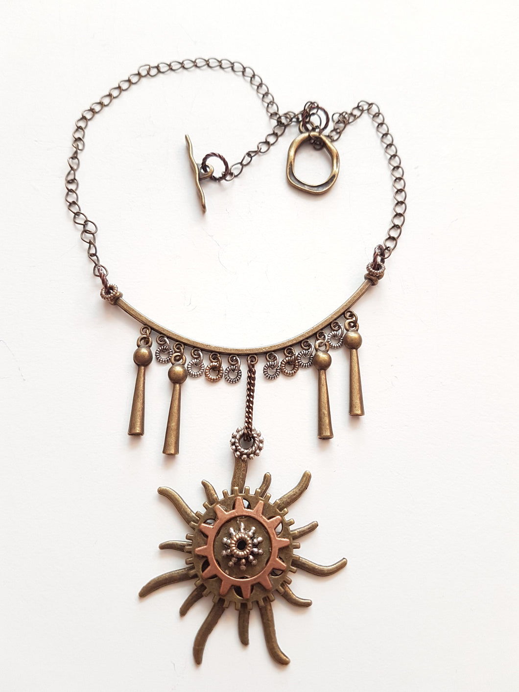 Gear Sun Necklace