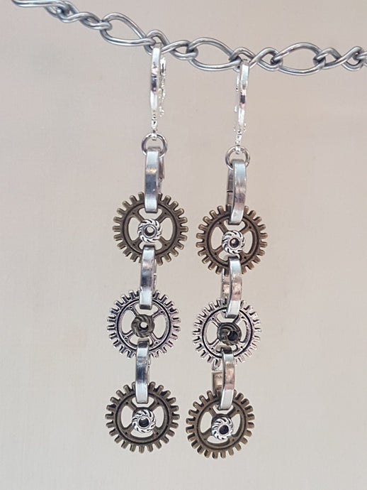 3 Gear Earrings