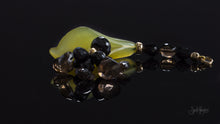 Spinel, Smokey Quartz, Natural Green Jade and 14K Gold Flower Pendant XOD Jewellery