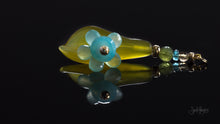 xod jewellery Green Jade, Chalcedony, 14K Gold, Peridot, Citrine and Apatite Flower Pendant