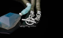 Jade, Blue Agate and Peruvian Opal with Sterling Silver