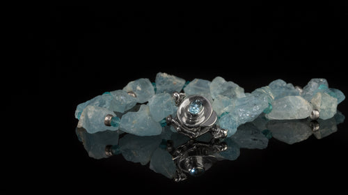 XOD Jewellery Blue Topaz and Apatite with Sterling Silver