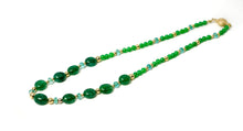 xod jewellery Emerald, Apatite and Chrysoprase with 14K Necklace SOLD