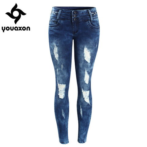 Youaxon Stretch Skinny Jeans - Belleza Obsession