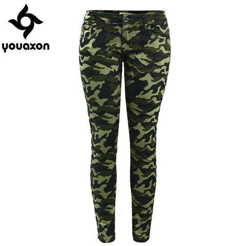 Youaxon Camouflage Stretch Skinny Jeans - Belleza Obsession