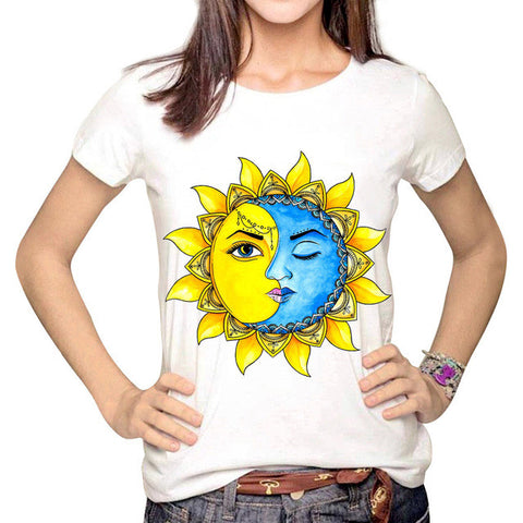 Mindfulness Sun & Moon BOHO T-Shirt - Belleza Obsession